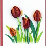 Red Tulips Quilling Gift Card