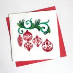 Red Ornaments Quilling Card