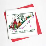 Snowy Village Quilling Card