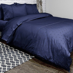 Jubilee Navy Bedding by Alamode Home