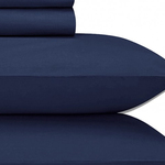 Navy Jubilee Upgraded Cotton Sheet Set