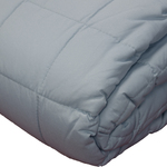 Light Blue Soft Touch Quilted Blankets by Century Home