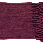 Merlot Red Minden Throws by Alamode Home
