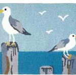 Perched Gulls Jelly Bean Rug