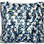 Blue Pebbles Cushion by Alamode Home