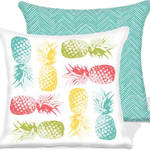 Pineapples/ZigZag Outdoor Chair Cushions