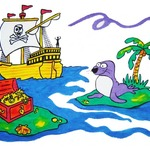 Pirate Pillowcase Painting Kit After