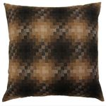 Earth Brown Pixel Cushion by Alamode Home