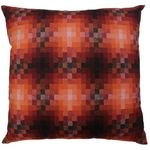 Fire Orange Pixel Cushion by Alamode Home