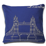 London Blue Postcard Cushions by Alamode Home