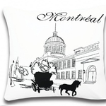 Montreal Postcard Cushions by Alamode Home