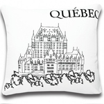 Quebec Postcard Cushions by Alamode Home