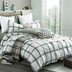 Ryan Green Duvet Cover Set with Pillowcase by Daniadown