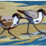 Sandpiper Pair Jelly Bean Rug