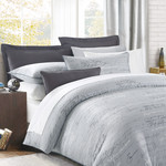 Script Grey Duvet Cover Set by Daniadown