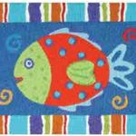 Smiling Fish Jelly Bean Rug