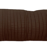 "Brown Spun Silk 10"" X 25"" Cushions by Alamode Home"