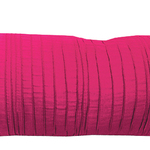 "Fuchsia Spun Silk 10"" X 25"" Cushions by Alamode Home"