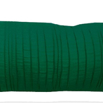 "Emerald Spun Silk 10"" X 25"" Cushions by Alamode Home"