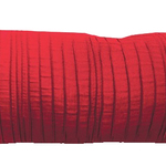 "Scarlet Spun Silk 10"" X 25"" Cushions by Alamode Home"