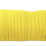 "Yellow Spun Silk 10"" X 25"" Cushions by Alamode Home"