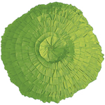 Avocado Spun Silk Round Cushion by Alamode Home