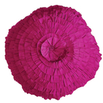 Fuchsia Spun Silk Round Cushion by Alamode Home