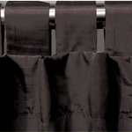 Black Spun Silk Curtains by Alamode Home