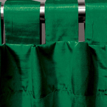 Emerald Spun Silk Curtains by Alamode Home
