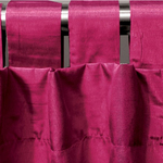 Fuchsia Spun Silk Curtains by Alamode Home