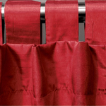 Scarlet Spun Silk Curtains by Alamode Home