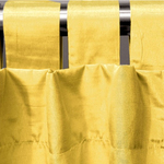 Yellow Spun Silk Curtains by Alamode Home