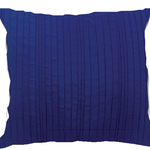 Ink Blue Spun Silk Cushions by Alamode Home
