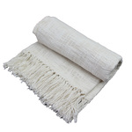 Ivory Novelty Throw by Fabstyles