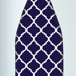 Navy Trellis Ironing Board Cover