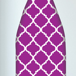 Purple Trellis Ironing Board Cover