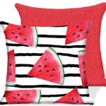 Watermelon/Red Outdoor Chair Cushions