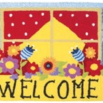 Welcome Window Box Jelly Bean Rug