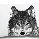 Wolf Wildlife Cushion by Alamode Home