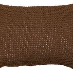Chocolate Brown Woven Paper Cushion by Alamode Home