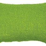 Aloe Green Woven Paper Cushion by Alamode Home