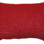 Red Woven Paper Cushion by Alamode Home